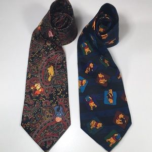 Other - Winnie The Poo Mens Necktie 👔 Lot of 2